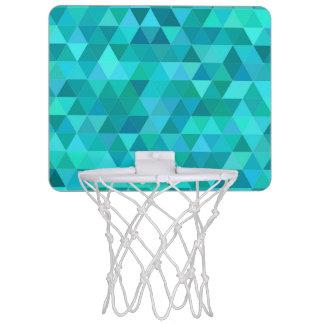 Teal triangle pattern mini basketball hoop