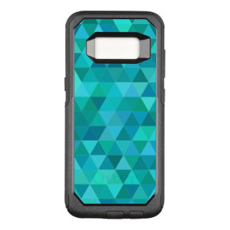 Teal triangle pattern OtterBox commuter samsung galaxy s8 case