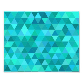 Teal triangle pattern photograph