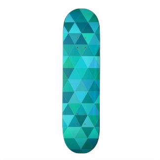 Teal triangle pattern skateboard
