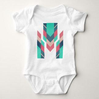 Teal tribal motif baby bodysuit