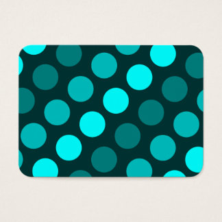 Teal Trio of Polka Dots Business Card
