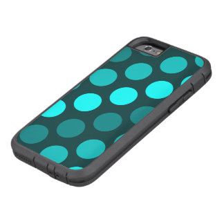 Teal Trio of Polka Dots Tough Xtreme iPhone 6 Case