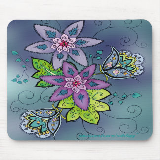 Teal Tulips Mousepad