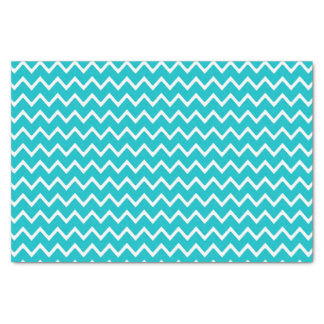 Teal Turquoise Blue Chevron Zigzag Pattern Tissue Paper