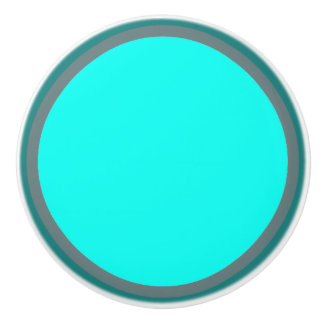 Teal Turquoise Blue Circles Multi Colored Knob