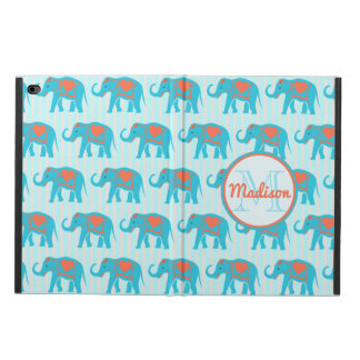 Teal turquoise, blue Elephants, blue stripes name