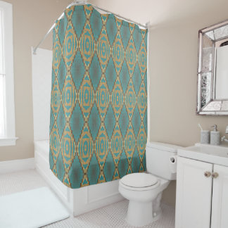 Teal Turquoise Taupe Brown Eclectic Ethnic Look