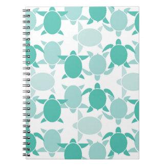 Teal Turtle Pattern Notebook