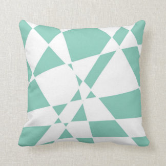 Teal 'Twisted Checkers' Artwork Throw Pillow