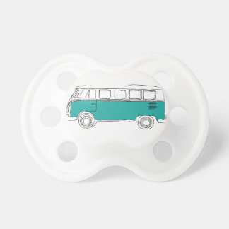 Teal Van Car Pacifier