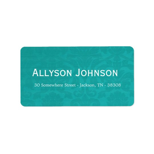 Teal Vintage Background Address Labels