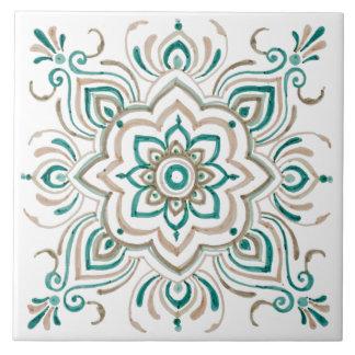 Teal Vintage Spanish tile