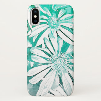 Teal Watercolor Coneflower Phone Case