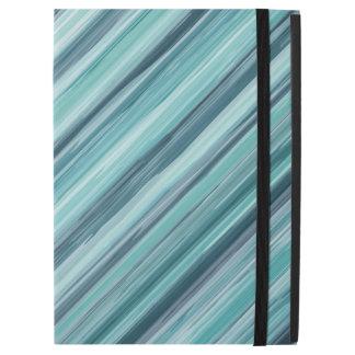 Teal Watercolor Painted Stripes (Teal, Cyan, Blue)