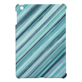 Teal Watercolor Painted Stripes (Teal, Cyan, Blue) Cover For The iPad Mini