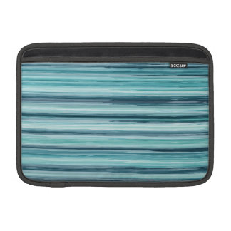 Teal Watercolor Painted Stripes (Teal, Cyan, Blue) MacBook Air Sleeves