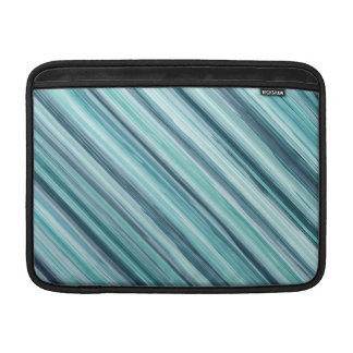 Teal Watercolor Painted Stripes (Teal, Cyan, Blue) MacBook Sleeves