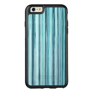 Teal Watercolor Painted Stripes (Teal, Cyan, Blue) OtterBox iPhone 6/6s Plus Case