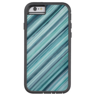 Teal Watercolor Painted Stripes (Teal, Cyan, Blue) Tough Xtreme iPhone 6 Case