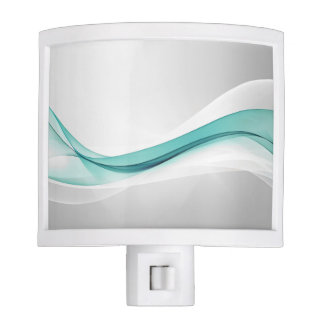 Teal Wave Abstract Night Light