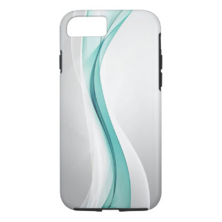 Teal Wave Abstract Tough iPhone 7 Case