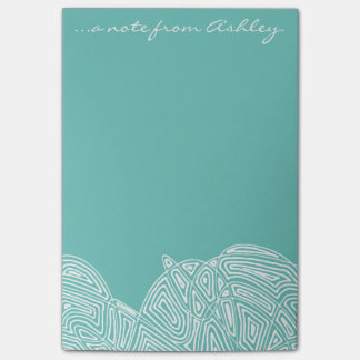 Teal Waves Post-it® Notes