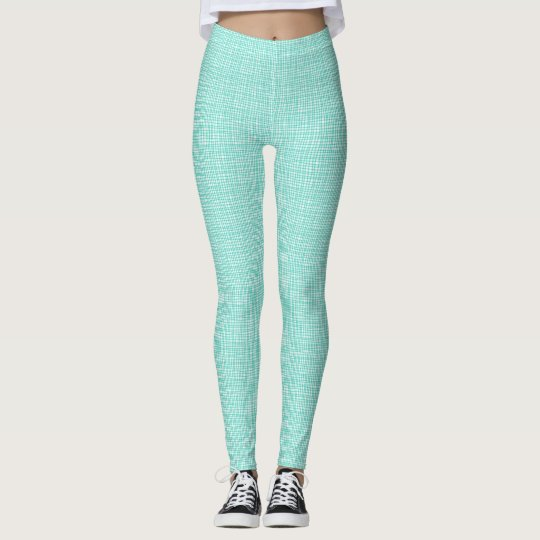 Teal Weave Leggings