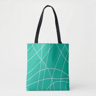 Teal Web Design Pattern Tote Bag