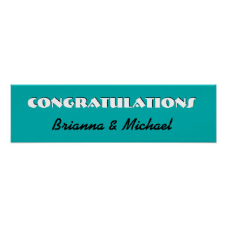 TEAL Wedding or Engagement Banner V06 Posters