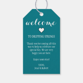 Teal Welcome Gift Tags