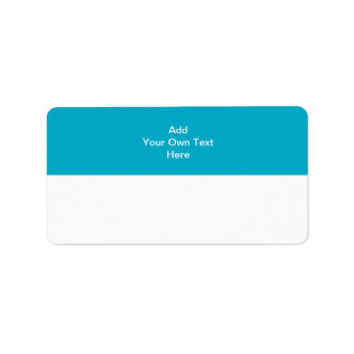 Teal with white area and text. label