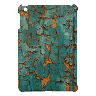 Teal & Yellow Peeling Paint Case For The iPad Mini