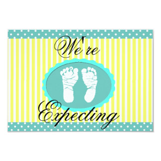 "Teal & Yellow ""We're Expecting"" Announcement"