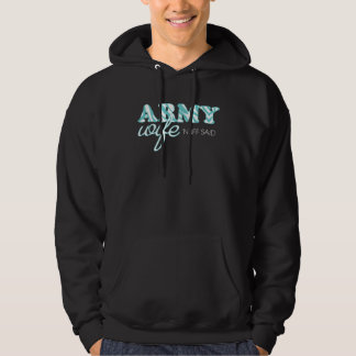 Teal Zebra Print Army Wife Hoodie