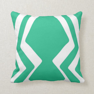 Teal Zig Zag Design Throw Pillow