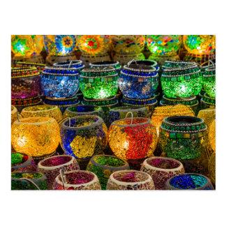 Tealights on a bazaar in Istanbul (Turkey) Postcard