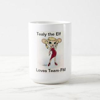 Tealy the elf loves Team-Fm Mug