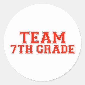 Team 7th Grade Round Sticker