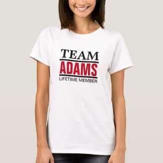 Team Adams Lifetime Member T-Shirt