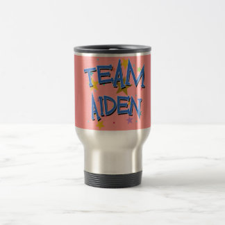 Team Aiden! 15 Oz Stainless Steel Travel Mug