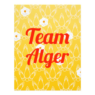 Team Alger Personalized Flyer