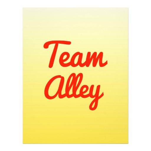 Team Alley Full Color Flyer
