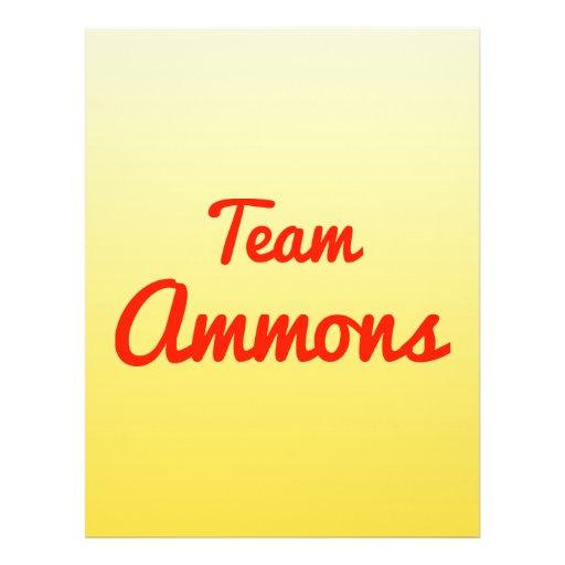 Team Ammons Full Color Flyer