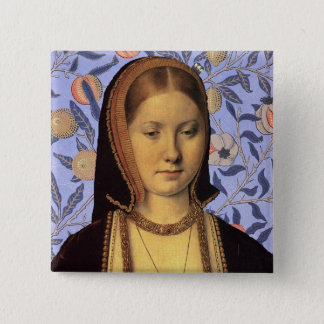 Team Aragon - Portrait Queen Catherine of Aragon 2 Inch Square Button