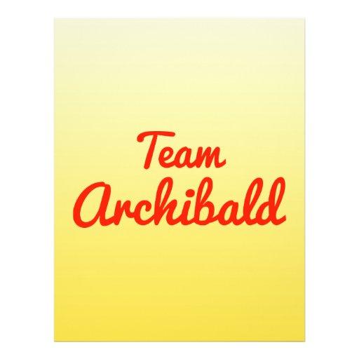 Team Archibald Flyer