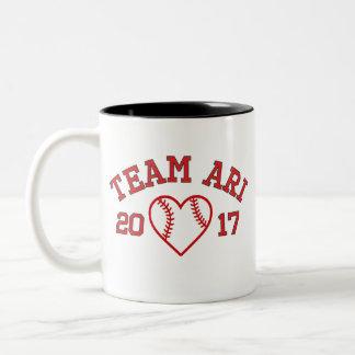 Team Ari baseball heart mug