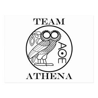 Team Athena (Engravers Font) Postcard