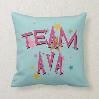 TEAM AVA Customizable Throw Pillow