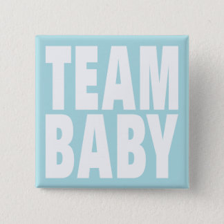 Team Baby on Blue 2 Inch Square Button